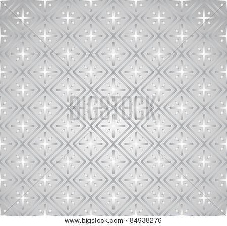 Silver Plus Sign And Rectangle Seamless Pattern On Pastel Background