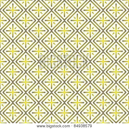 Yellow Plus Sign And Rectangle Seamless Pattern On Pastel Background
