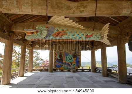 Yeongju, Korea - October 15, 2014: Fish Shaped Wooden Temple Block