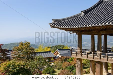 Yeongju, Korea - October 15, 2014: View From Buseoksa Temple