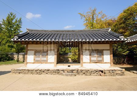 Yeongju, Korea - October 15, 2014: Hakgujae In Sosuseowon