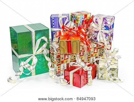 Gift boxes pack with bows