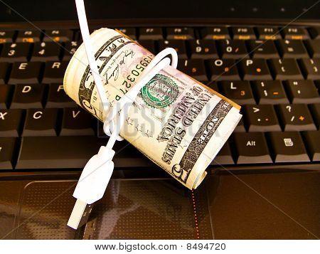 Dinero en el comercio