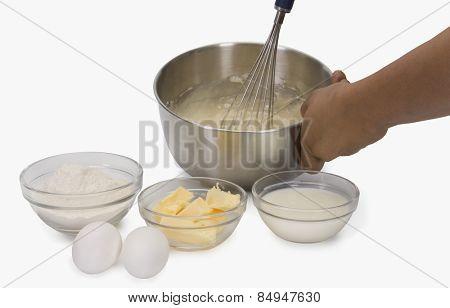Close-up of a man preparing food