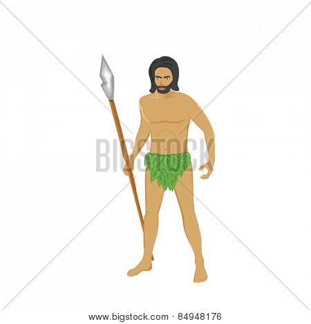 Primitive man holding a spear