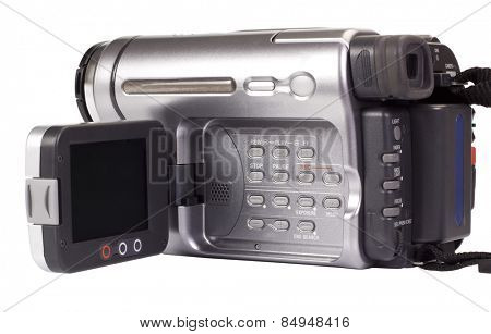 Close-up of a video camera
