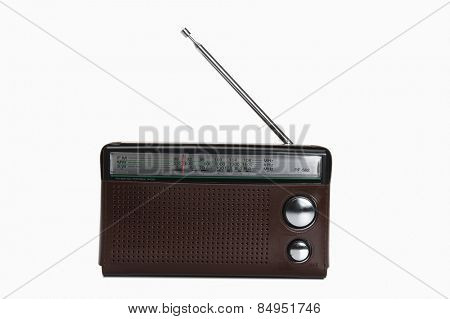 Close-up of a radio