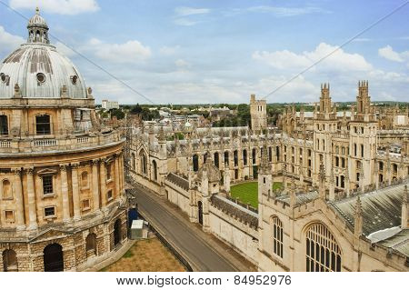 University buildings in a city, Radcliffe Camera, Oxford University, Oxford, Oxfordshire, England