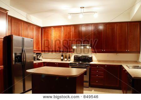 fancy gourmet kitchen