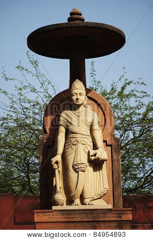 Statue of lord Vishnu at a temple, Lakshmi Narayan Temple, New Delhi, India