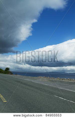 Road along a lake, Lakes of Killarney, Ring Of Kerry, County Kerry, Republic of Ireland