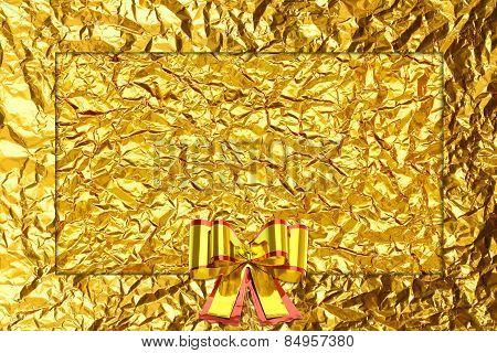 Shiny Yellow Leaf Gold  Ribbon