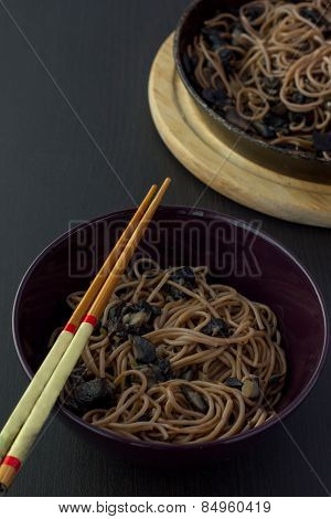 Soba Noodle With Mushrooms