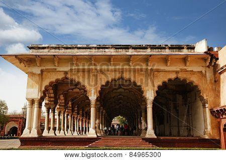 Diwan-E-Aam at Agra Fort, Agra, Uttar Pradesh, India
