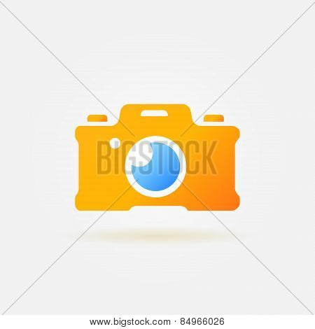 Photo camera simple logo