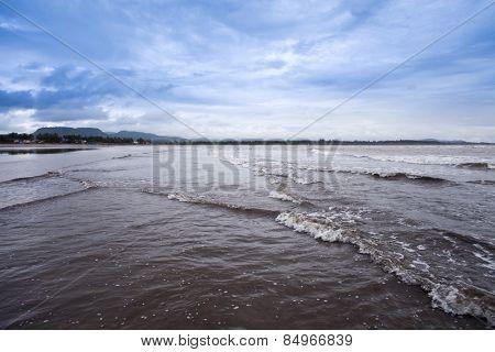Waves on the beach, Alibag, Raigad District, Konkan, Maharashtra, India