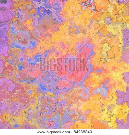Abstract Colorful Background In Violet, Pink, Blue And Yellow