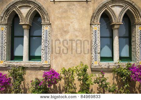 Potted plants outside a building, Ravello, Amalfi Coast, Salerno, Campania, Italy