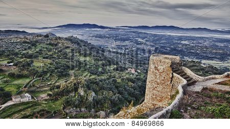 Rural Area From Castle, Spain