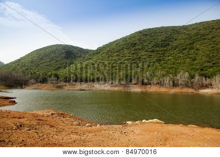 Lake in a park, Kambala Konda Eco Tourism Park (Majjisrinath), Visakhapatnam, Andhra Pradesh, India
