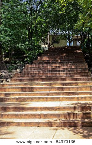 Low angle view of steps, Visakhapatnam, Andhra Pradesh, India