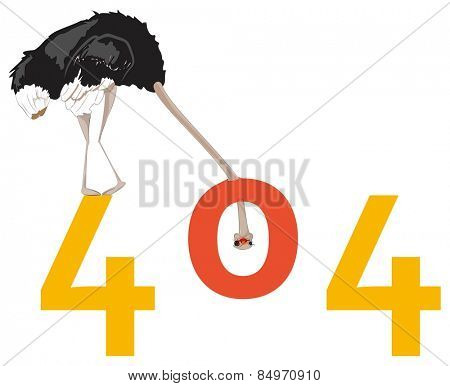 Illustrative representation of an ostrich view