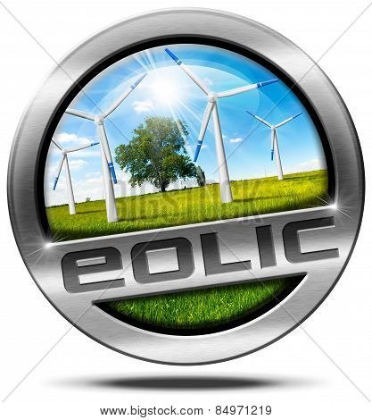 Eolic Energy - Metal Icon