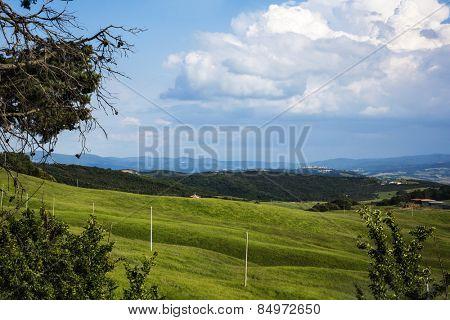 Landscape, Volterra, Province of Pisa, Tuscany, Italy