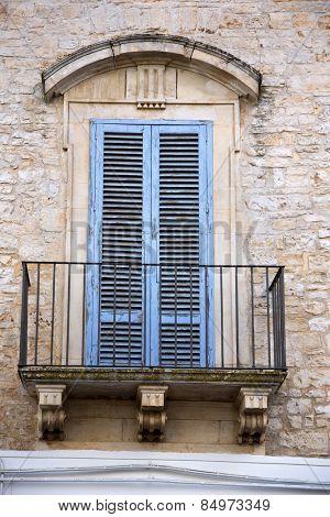 Low angle view of a balcony of a house, Alberobello, Bari, Puglia, Italy