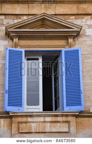 Low angle view of a window of a building, Alberobello, Bari, Puglia, Italy