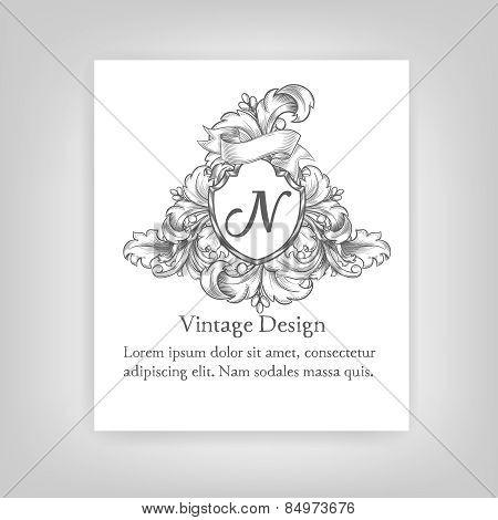 VintageVintage emblem, monogram emblem, monogram