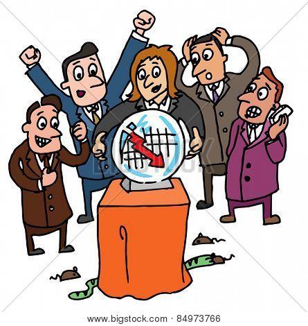 Illustrative representation of stock brokers