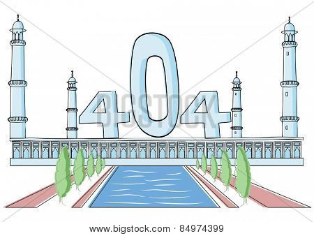 Illustrative representation of the Taj Mahal disappearing act, Agra, Uttar Pradesh, India
