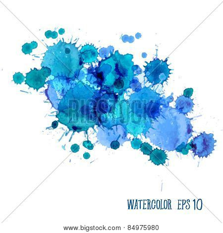 Watercolor Splashes Set
