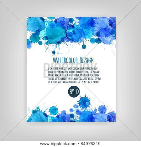 vector watercolor abstract background