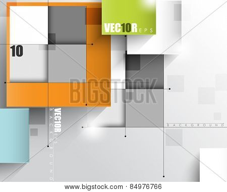 overlapping geometric squares with thin lines eps10 vector design