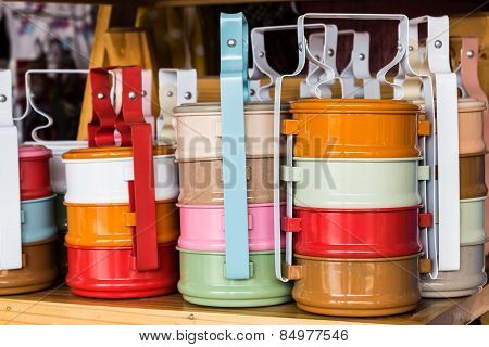 Colorful Of Tiffin Box .