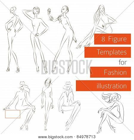 Figure Templates For Fashion Illustration