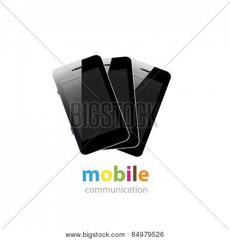 Mobile Smartphone Logo design vector template, easy editable