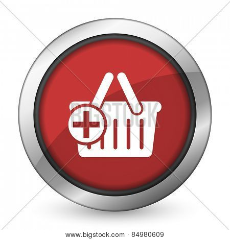 cart red icon shopping cart symbol