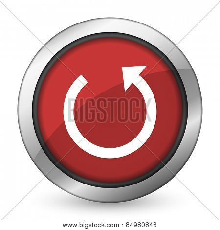 rotate red icon reload sign