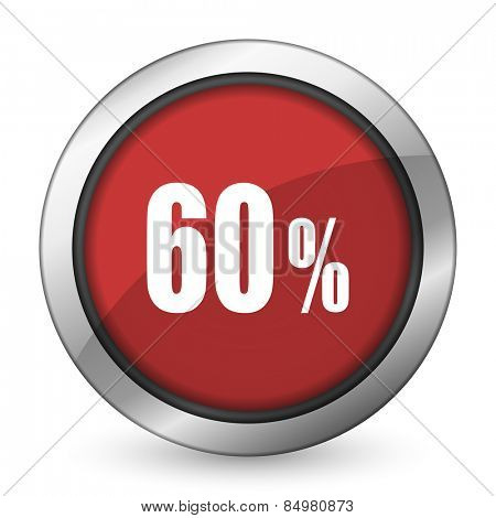 60 percent red icon sale sign