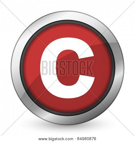 copyright red icon