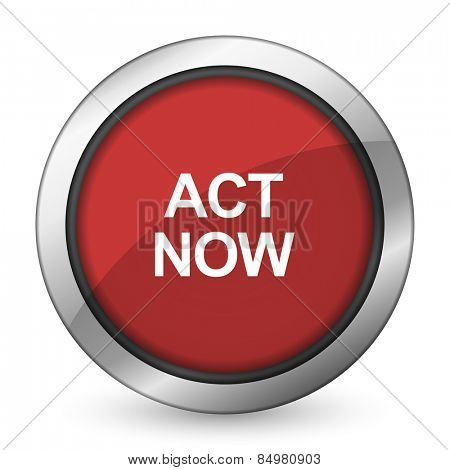 act now red icon