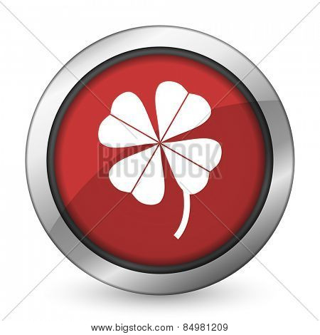 four-leaf clover red icon