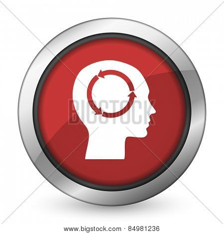 head red icon human head sign