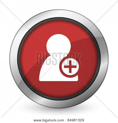 add contact red icon