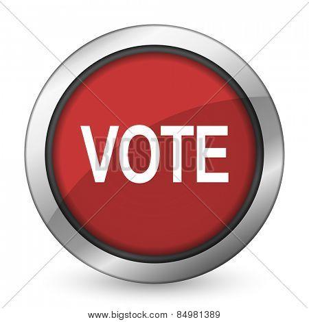 vote red icon