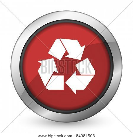 recycle red icon recycling sign