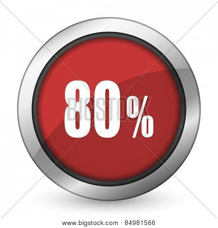 80 percent red icon sale sign